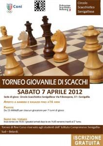 Volantino torneo giovanile di scacchi 2012