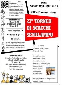 Torneo di scacchi semilampo a Sant'angelo di Senigallia